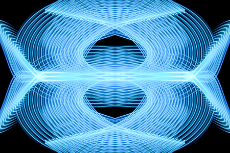 Abstract background of colored blue stripes. The concept of geometric aesthetics.