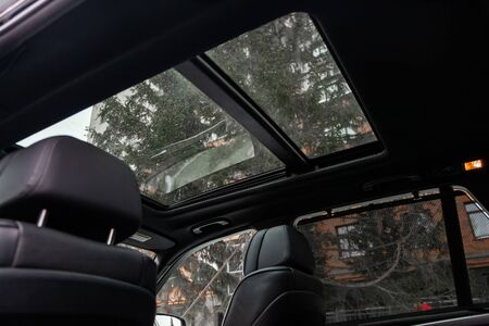 Novosibirsk, Russia - February 16, 2019:  BMW X5,roof car with a panoramic roof Standard-Bild - 133071851