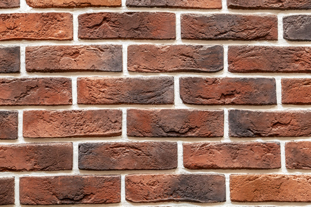 Background of brick stone wall made with blocks . Pattern of  slate wall texture and background Standard-Bild