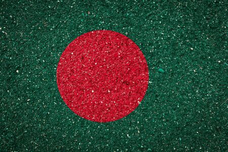 National flag of Bangladesh on a stone background.The concept of national pride and symbol of the country. Stock fotó
