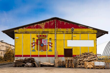 Close-up of the national flag of Spain