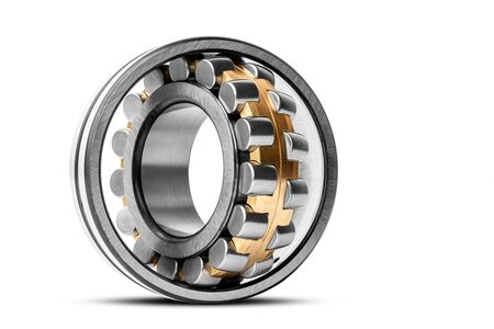 Roller bearing on white background isolated. Part of the car Banque d'images