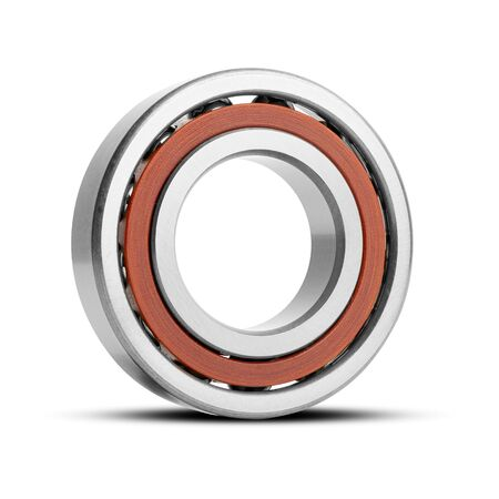 Close up of bearings for industry on white isolated background. Part of the car
