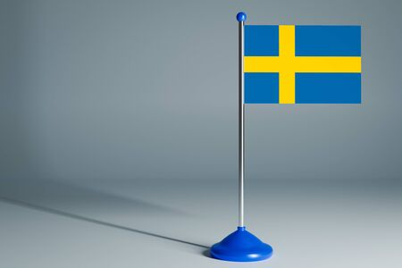 The 3d rendering  realistic national flag of Sweden
