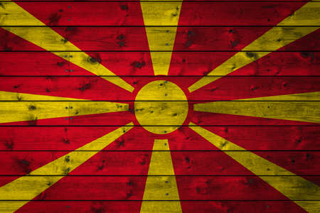 The national flag of Macedonia