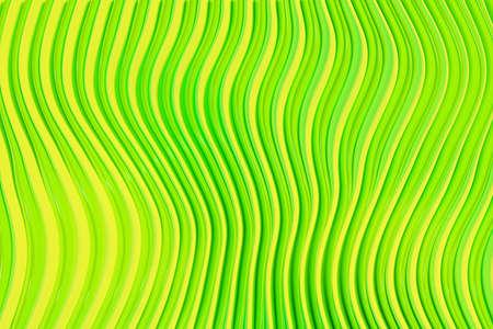 3d例证绿线条行。地奇测定背景,编织图案。