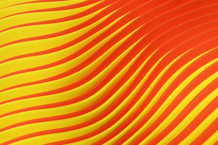 3d illustration of rows yellow, orange portal, cave .Shape pattern. Technology geometry background. Stock fotó