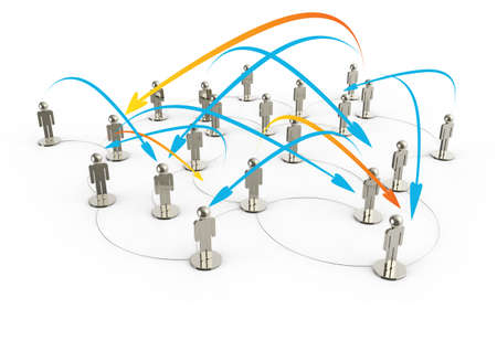social network human 3d on world map as concept Stock Photo - 16685439
