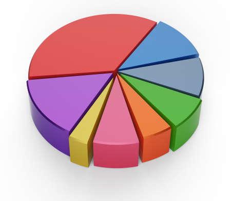 grafica de pastel: conjunto de gráfico de tarta diferente en el fondo aislado