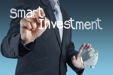 businessman hand points to business strategy as concept Stock Photo - 16707220