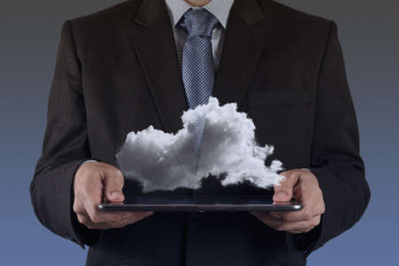 Businessman drawing a Cloud Computing diagram on the new computer interface Stock Photo - 16707148