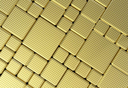 brushed metal texture: Gold pentagon metal plate background or texture