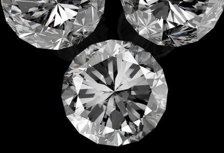 diamonds on black surface background Stock Photo - 16704354