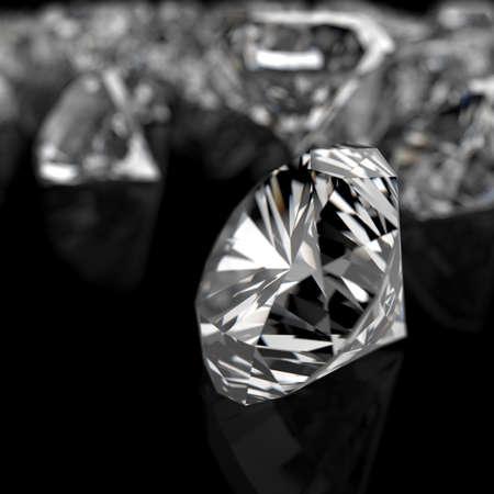 diamonds on black surface background Stock Photo - 16706512