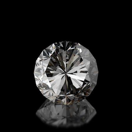 Diamanten auf schwarzem Oberfläche Hintergrund Standard-Bild