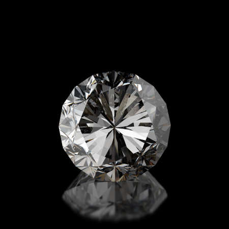 diamonds on black surface background Stock Photo - 16704237