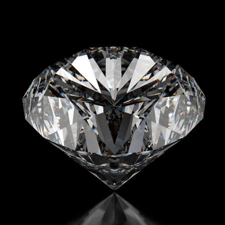 diamonds on black surface background Stock Photo - 16704345