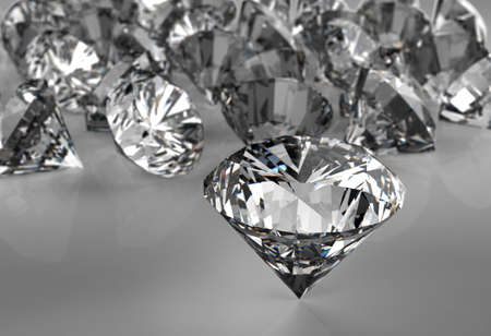 diamonds on black surface background Stock Photo - 16706460