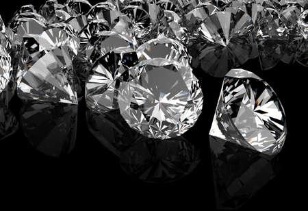 crystalline: diamonds on black surface background