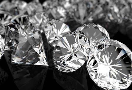 ダイヤモンド: 黒の背景に表面にダイヤモンド