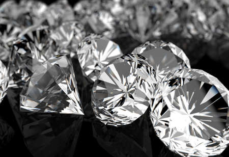 gemstones: diamonds on black surface background