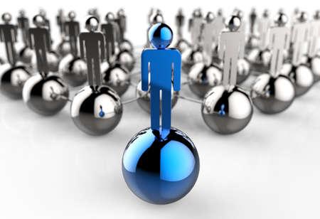 Leader of competition. Concept. 3d illustration illustration