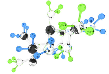 Molecule glass 3d colors on white background Stock Photo - 16712946