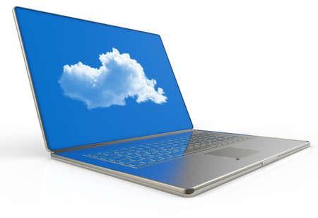 Cloud computing 3d structure as concept Stock Photo - 16712991