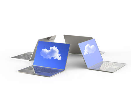Cloud computing 3d structure as concept photo