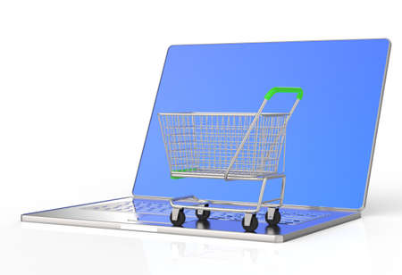 On line shopping concept on white background Stock Photo - 16712940