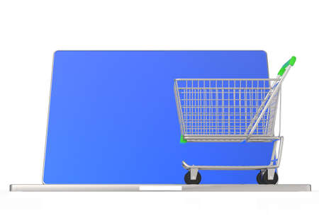 On line shopping concept on white background Stock Photo - 16712896