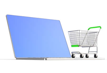 On line shopping concept on white background Stock Photo - 16712895