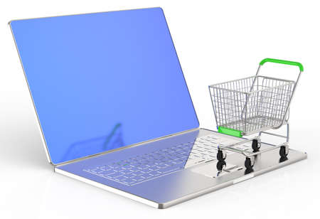 On line shopping concept on white background Stock Photo - 16712959