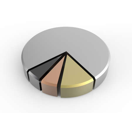 set of different pie chart on isolated background photo