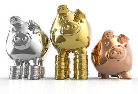 piggy bank as concept on white photo