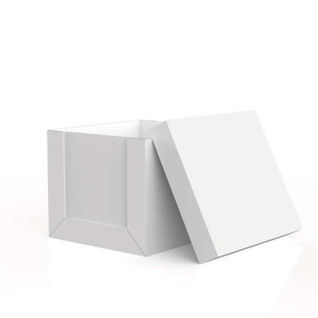 blank boxes on white background  photo