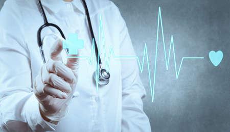 Medizin Arzt Hand arbeiten mit moderner Computertechnik