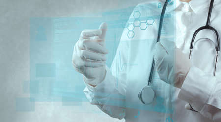 medical services: smart doctor and technology as medical concept