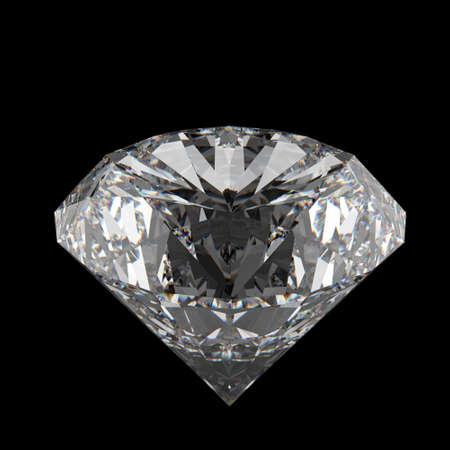 refractive: 3d diamonds on black surface background