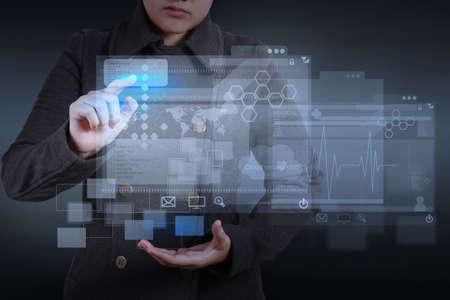 web designer working on modern computer photo
