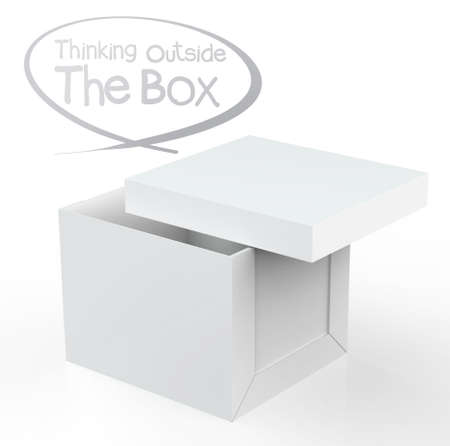 atypical: thinking outside the box as concept Stock Photo