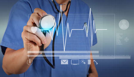 medical concept: smart doctor and technology as medical concept
