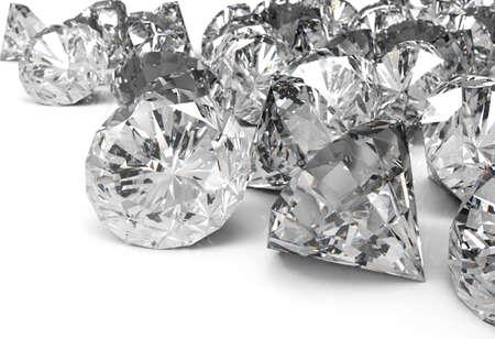 Diamonds isolated on white 3d model Stock Photo - 17542953
