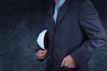smart business engineer on texture background photo