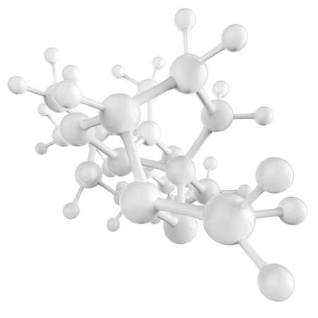 Molecule white 3d on white background Stock Photo - 17541871