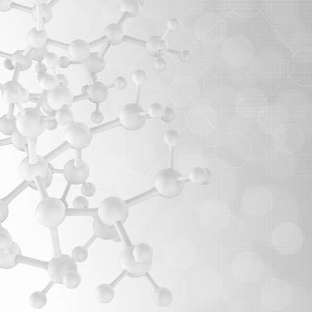organic background: Abstract 3d  molecules medical background Stock Photo