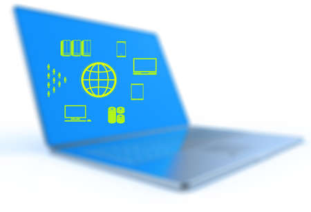 a Cloud Computing diagram on the new computer interface as concept Stock Photo - 18237249