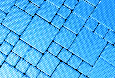 reflective background: Steel blue cube mesh metal plate background or texture