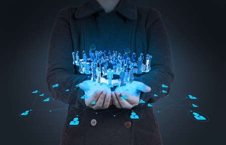 empres�rio que trabalha com o novo show de estrutura social moderna rede de computador