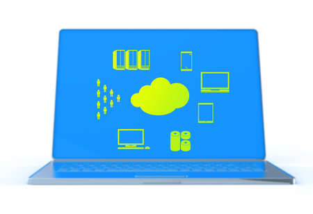 a Cloud Computing diagram on the new computer interface as concept Stock Photo - 18237246